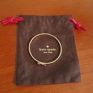 💖HP💖 Kate Spade gold bow bangle bracelet